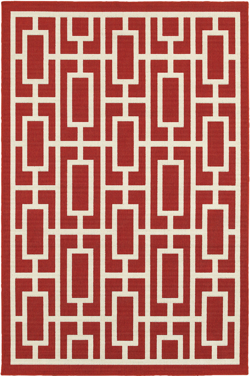 oriental weavers meridian 9754r red