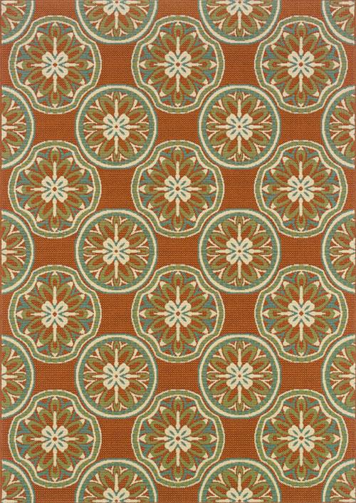 oriental weavers montego 8323d rust