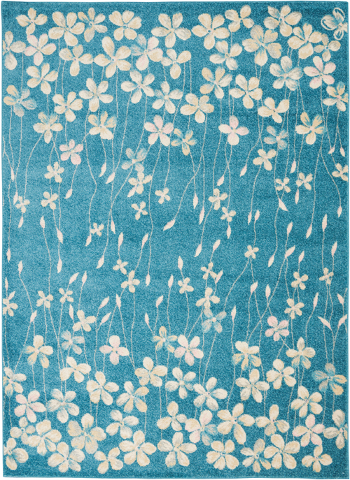 Nourison Tranquil TRA04 Turquoise Rug