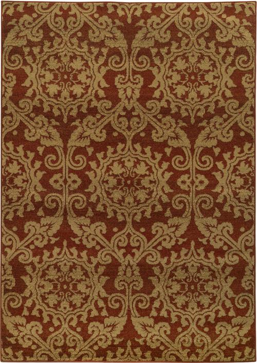 oriental weavers parker 5840b rust