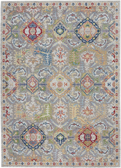 Nourison Ankara Global ANR12 Grey/Multicolor