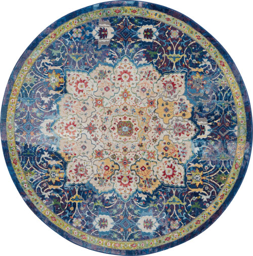 nourison global vintage glb03 blue