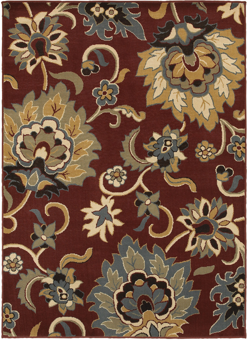 oriental weavers stratton 6034c red