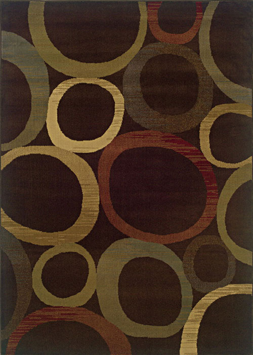 oriental weavers tybee 2361d brown