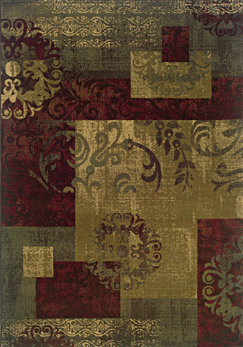 oriental weavers tybee 851u6 green