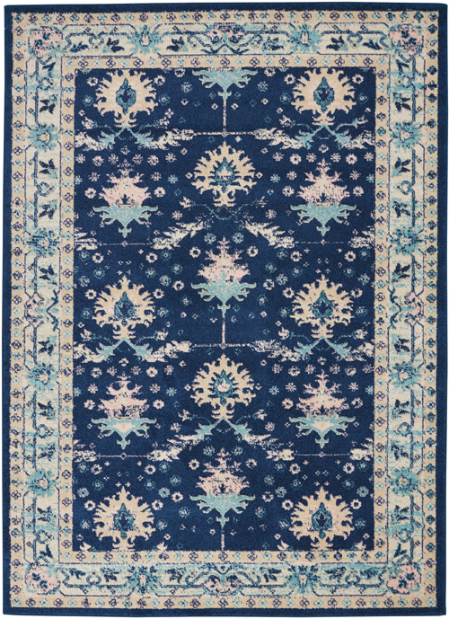 Nourison Tranquil TRA10 Navy/Ivory Rug