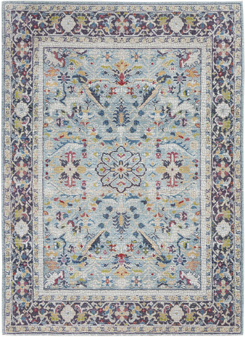 Nourison Ankara Global ANR14 Teal/Multicolor Rug