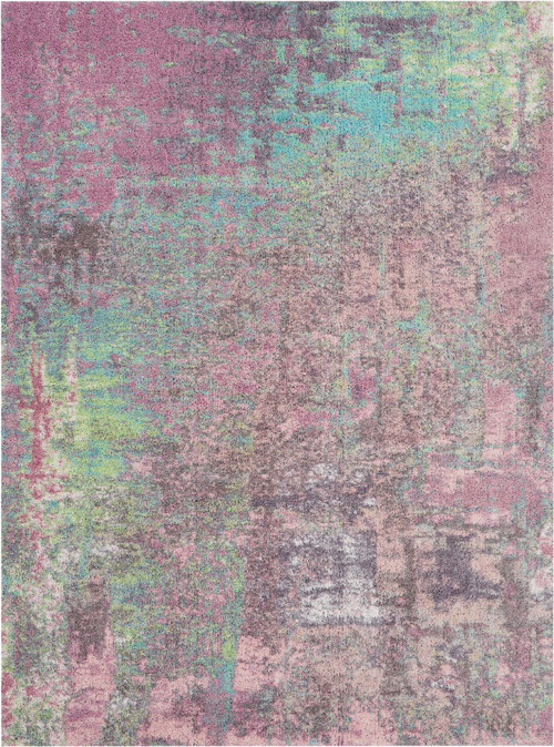 nourison abstract shag abs02 pink