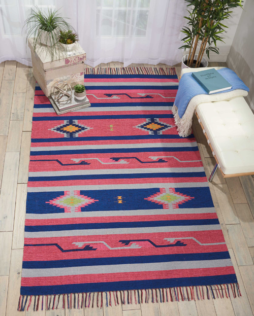 Nourison BAJA BAJ01 PINK/BLUE Room Scene