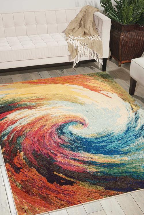 Nourison CELESTIAL CES07 WAVE Room Scene