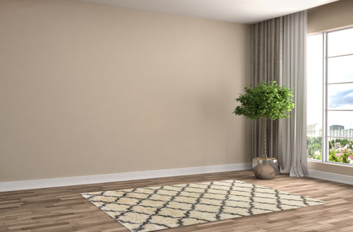 Dynamic CRYSTAL 8520 Cream/Grey Room Scene