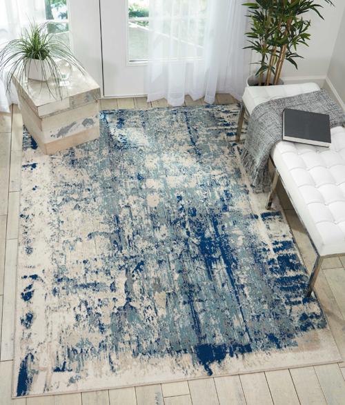 Nourison MAXELL MAE16 IVORY BLUE Room Scene
