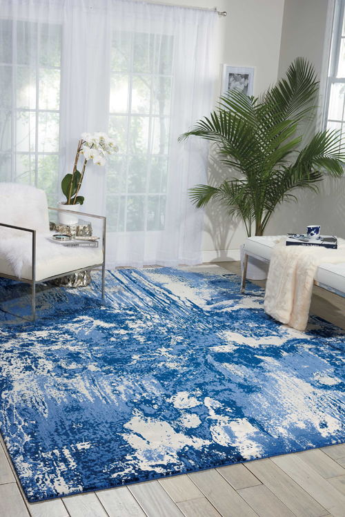 Nourison TWILIGHT TWI24 BLUE/IVORY Room Scene