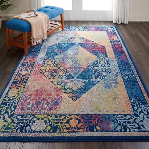 Nourison Global Vintage GLB04 Blue/Multicolor Room Scene