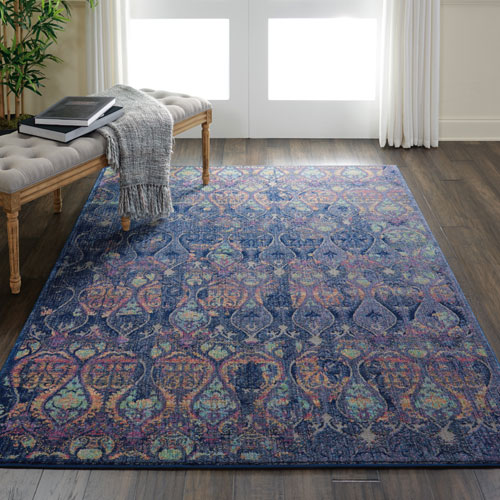 Nourison Global Vintage GLB08 Navy/Multicolor Room Scene
