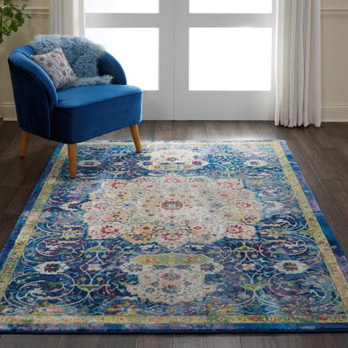 Nourison Global Vintage GLB03 Blue Room Scene
