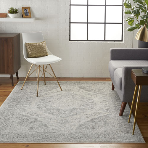 Nourison Tranquil TRA05 Ivory/Grey Room Scene